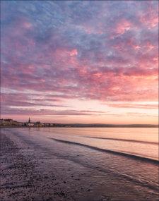 Spring sunrise taken from Weymouth beach Dorset